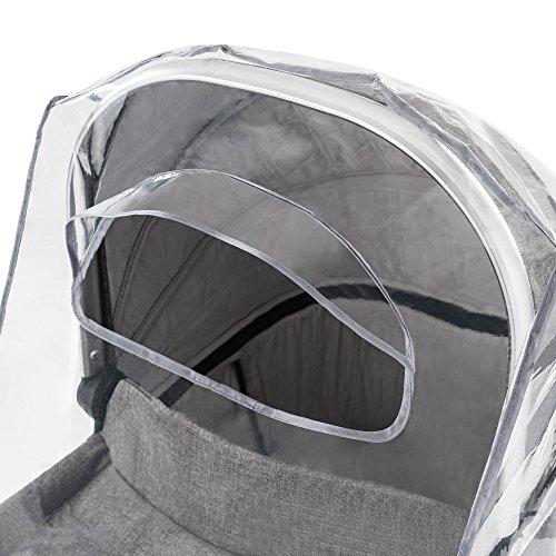 Protector de lluvia universal para cochecitos / capazos de bebé (p. ej. Bugaboo  Stokke  Jané  etc.) | Buena circulación de aire  ventana con visera  libre de sustancias nocivas