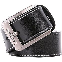 Leathario Hombres Cintur¨®n de Cuero Correa Cinturones de Piel