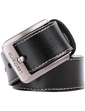 Leathario cinturones de hombre de piel sintetica cinturones de moda de cuero con buenos acabados para caballeros...