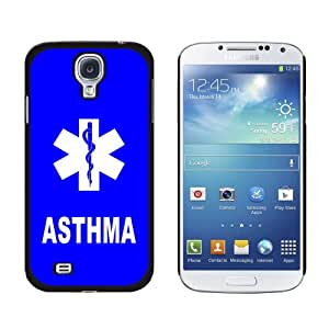 Graphics and More Asthma-Medical Emergency-Star of Life Snap-On Hard Protective Case for Samsung Galaxy S4 - Non-Retail Packaging - Black