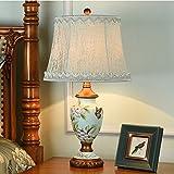 Uncle Sam LI- Amerikanischen Landhausstil Painted Tischlampe harz Licht Körper Tuch Lampenschirm Schlafzimmer Wohnzimmer Tischlampe (Farbe : C)