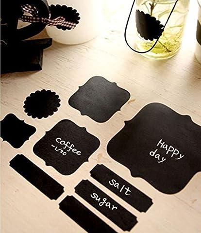 Y & B & B Y 15étiquettes Tableau Noir autoadhésives imperméable Tableau Noir Effaçable Retirer et Stickers muraux