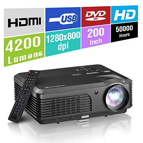 HD LED Proyector portátil Sistema Juegos Cine casa
