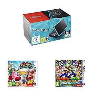 New Nintendo 2DS XL Noir+Turquoise + Kirby: Battle Royale + Mario et Luigi: Superstar Saga (B07QPBTY74) | Amazon price tracker / tracking, Amazon price history charts, Amazon price watches, Amazon price drop alerts