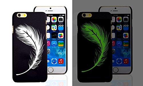 RONNEY'S Luminous PC BLACK Hard Case for Apple Iphone 6/6S SPIDERMAN FEATHER