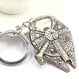 iDealhere(TM) 1pc Star Wars Millennium Falcon Raumschiff Metal Flaschenöffner Schlüsselanhänger