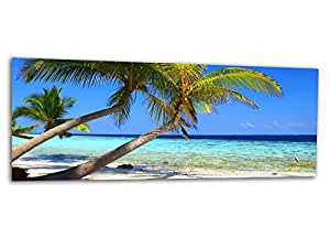 XXL verre d'impression / image tableaux DREAM BEACH CARIBBEAN AG312500321 Wall deco 125 x 50 cm Deco Glass, Design & Handmade