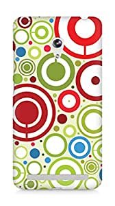 AMEZ designer printed 3d premium high quality back case cover for Asus Zenfone 6 (abstract circles)