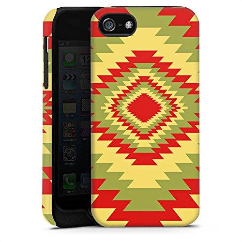 Apple iPhone X Silikon Hülle Case Schutzhülle Ethnostyle Indianer Muster Batik Style Tough Case matt