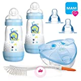 MAM Sparset III Anti-Colic Starter-Set mit Anti-Kolik Easy Start Flaschen Set BOYS