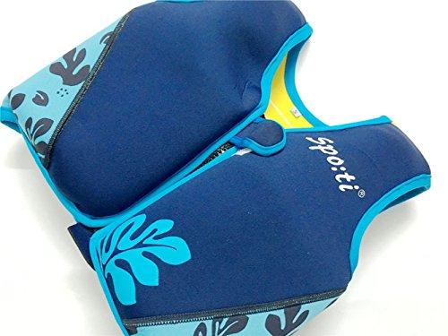 Titop Schwimmhilfe für Kind für Neue Schwimmunterricht für Babydruck Blau Klein für Kinder Zwischen 1-3 Jahren