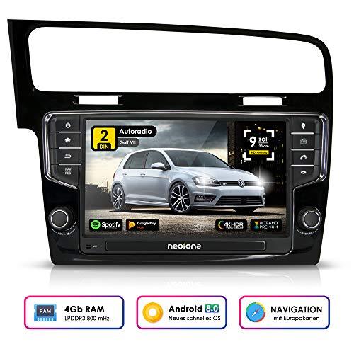 Autoradio Android Neotone WRX-906G7 pour VW Golf 7 (à partir de 2012)  Can-Bus integr, GPS Navigation, Dab +, Octa-Core, 4K Ultra HD Video WiFi,