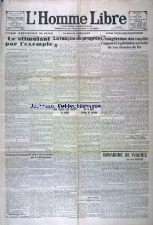 HOMME LIBRE (L') [No 4280] du 11/04/1928