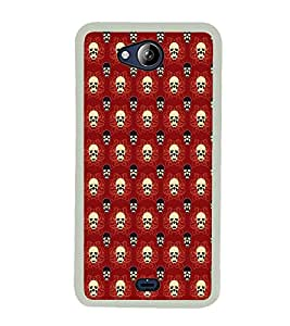PrintVisa Cool Skull & Ghost High Gloss Designer Back Case Cover for Micromax Canvas Play Q355