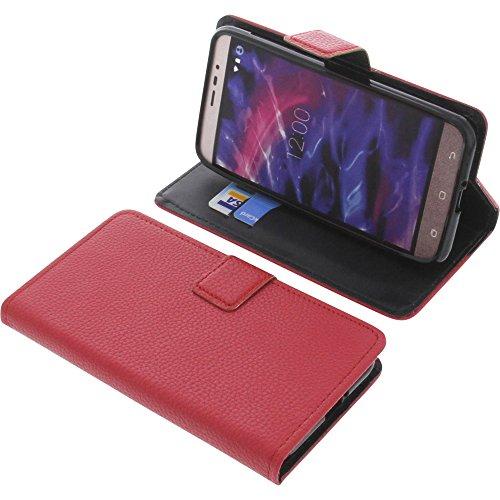 foto-kontor Tasche für MEDION Life P5006 Book Style rot Schutz Hülle Buch