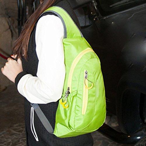 Unisex-Licht Praktische Outdoor-Sport Brusttasche Journey Sling Rucksack Multicolor Green
