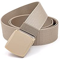 XIANGYINGZHIJIA Cinturón de Cinturón Cinturón de Lona Cinturón de Cinturón Deportivo Casual, 130cm, Beige de Cola Inclinada