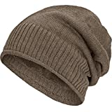 Compagno gefütterte Beanie Wintermütze mit weichem Teddy-Fleece Futter Mütze Einheitsgröße, Farbe:Beige