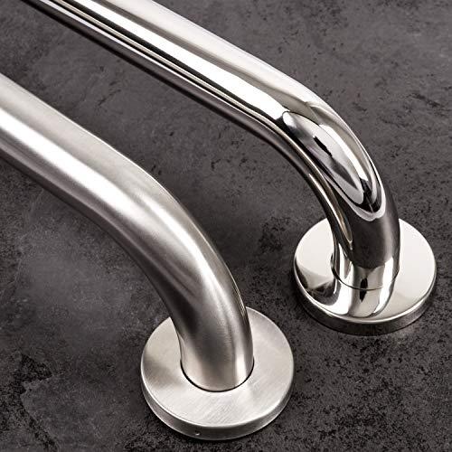 Haltegriff für Duschen Griff Ø 25 mm Badezimmer Badewannen Griff | Edelstahl | Gebürstet | 250 mm
