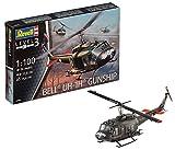 Revell 04983 10 Modellbausatz Bell UH-1H Gunship im Maßstab 1:100, Level 3