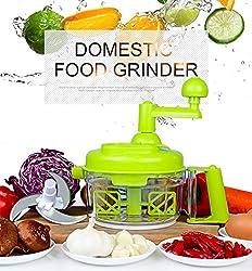 Manual Food Processor For Meat Vegetable 3 Blades Egg Separator Convenient Blender