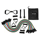 [Stretch Bands]Exercise Band Kit, OUTAD Resistance Band Set, Fitness Tubes with Heavy Duty Rubber Resistance Bands,Door Anchors, Ankle Straps, Chest Expander, Foam Handles Workout Guide, Carrying Pouch for Building Muscle, Fat Loss, Rehabilitative Exercises, Indoor or Outdoor Use (20set)