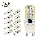 Ampoule LED G9, Jpodream 5W 64 x 3014 SMD LED Lampes Blanc Froid 6000K, 450LM, 45W Halogène Lumière Equivalente, 360 Degrés Angle, AC 200-240V - Pack de 10