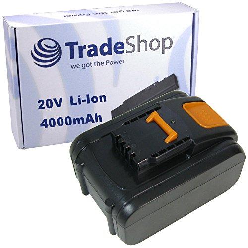 Preisvergleich Produktbild Trade-Shop Premium Li-Ion Akku 20V / 4000mAh / 80Wh ersetzt Worx WA3528, WA3553.2. WA3551.1 für Worx WX372 WX372.1 WX390 WX390.1 WX390.31 WX523 WX523.9 WX678 WX678.9 WX292.9 WG151.5 WG251.5 WG540
