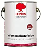 Leinos 850 Wetterschutzfarbe auf Ölbasis 2,50 l Schweden-Rot