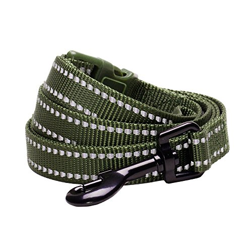 Blueberry-Pet-Durable-3M-Reflctive-Dog-Lead-150-cm-x-2cm-in-Olive-Green-Medium-Leads-for-Dogs-Matching-Collar-Available-Separately