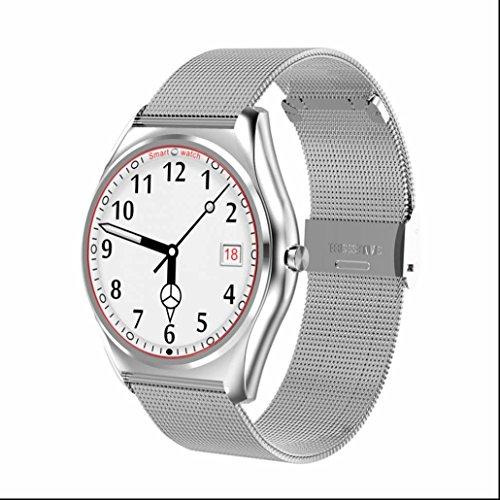 Smartwatch Handy Uhr ergonomisch Design Elegantes aussehen Hochwertiges Pulsuhren Kalorienzähler Sport uhr für Android Samsung HTC Sony LG Blackberry Huawei (Handyuhr Lg)