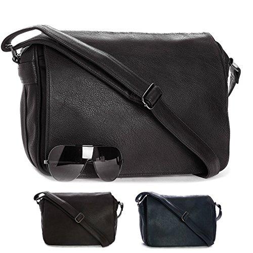 Big Handbag Shop - Borsa a tracolla unisex adulto (Blu)
