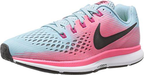 Nike Damen WMNS Air Zoom Pegasus 34 Laufschuhe Viola/Fuxia, Mehrfarbig (Bleu Mica/Blanc/Rose Coureur/Fuchsia Sport) - Größe: 36 EU (Zoom-größe Nike 6)
