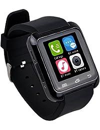 Smartwatch,Culater Smart Bluetooth muñeca Inteligente Reloj sana podómetro Monitor de sueño Alarma Calendario llamada con la Pantalla Táctil Android,Samsung,HTC, Sony, Huawei(Negro)