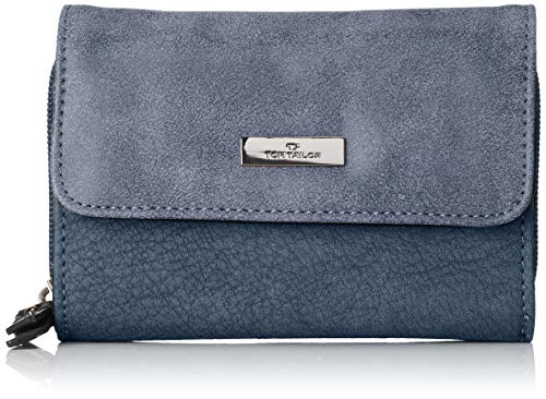 TOM TAILOR Geldbörse Damen Elin, Grün (Blau), 4x10x14 cm, Portemonnaie Damen