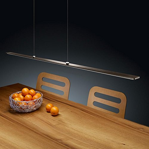 Helestra LED Pendelleuchte Lexx Wenge Chrom IP30 | LEDs fest verbaut 21W 1820lm warmweiß | 16/1504.20