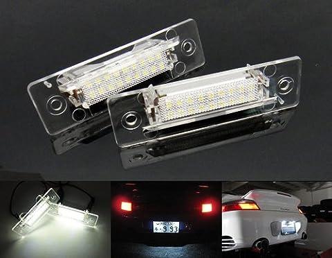 2x Porsche 911Carrera LED Lizenz Kennzeichenbeleuchtung No Error weiß 964993996968Boxster 986Luffy