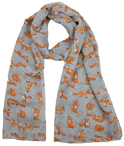 ladies-womens-colorful-long-soft-and-warm-fox-print-grey-scarf