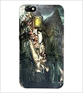 PrintDhaba Abstract Image D-4885 Back Case Cover for HUAWEI HONOR 4X (Multi-Coloured)