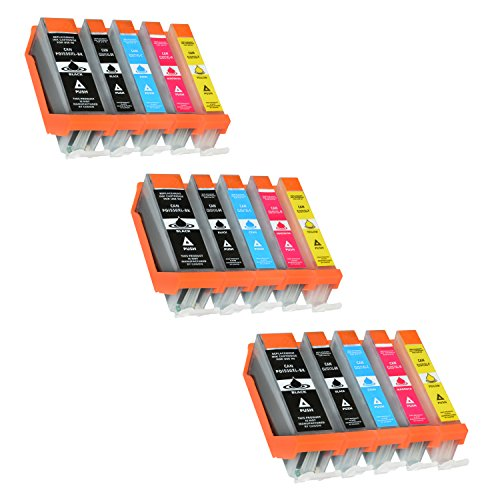 15 Tintenpatronen für Canon Pixma MG5650 MG6650 MG5550 MG6450 MG7550 MG7150 iX6850 iP7250 MX925 - PGI-550 PGBK, CLI551XL BK C M Y