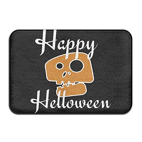 Non Slip Door Mat Outdoor,Indoor/Outdoor Decorative Washable Garden Office Door Mat with Non Slip Backing Inside & Outside Door Mats Happy Halloween,Skull Design Pattern for Hallway