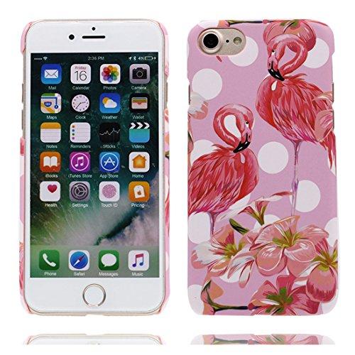 Custodia iPhone 6, Fenicottero porpora 3D Cartoon | TPU Duarble iPhone 6S Case iPhone 6s copertura Cover 4.7 | Shell Skin Graffi Resistenti Color - 2