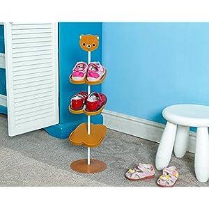 Addfun®Kids Schuhregal,Kreativ Bodenausführung Rotierend Schuh Lagerung  Gestell Dreidimensional Karikatur Kinder U0027s Mappe Schuhregal