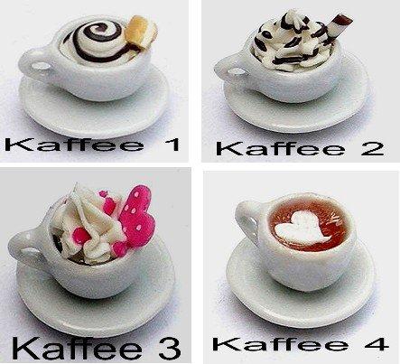 Miniature Kaffeetassen in 4 Varianten 1:12