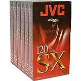 Haute qualité JVC vierge cassette vidéo VHS pour haute performance et Répétez Utilisation SX120 6 x 2 Hour