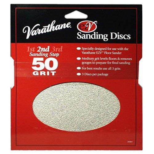 Rust-Oleum 203937 Varathane 50 Grit Sand Discs for EZV Floor Finish  Sanders, 3-Pack