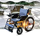 JIAO UK Electric Power Wheelchair Fully Intelligent With 360° Intelligent Joystick Speed Indication 24 Inch Wheel Lightweight Folding Wheelchair