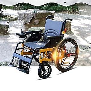 JIAO UK Electric Power Wheelchair Fully Intelligent With 360° Intelligent Joystick Speed Indication 24 Inch Wheel Lightweight Folding Wheelchair