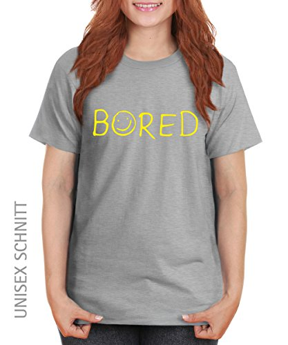 -- Bored -- Girls T-Shirt auch im Unisex Schnitt Sports Grey