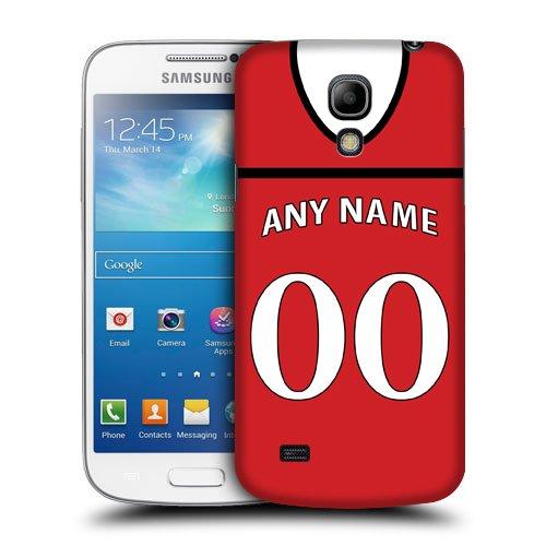 Case Fun RS Spaß personalisierte Cardiff City Fußball Trikot, einen beliebigen Namen, Nummer Snap-on hart zurück ohnehin decken für Samsun Galaxy S4 Mini (I9190)